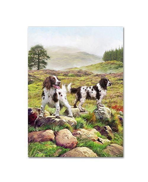 "Trademark Global The Macneil Studio 'Spaniels on Moor' Canvas Art - 35"" x 47"""
