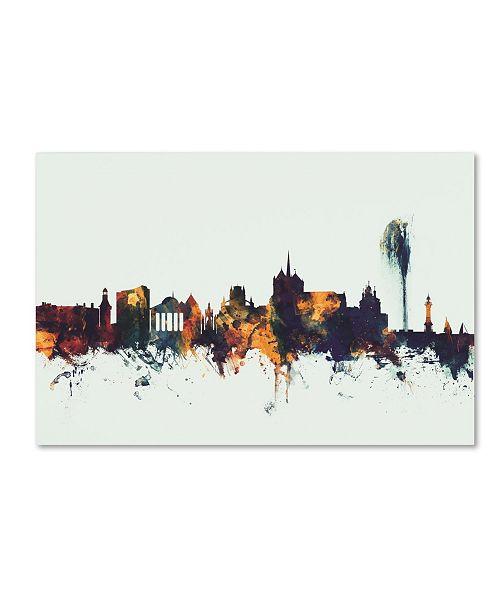 """Trademark Global Michael Tompsett 'Geneva Switzerland Skyline V' Canvas Art - 22"""" x 32"""""""