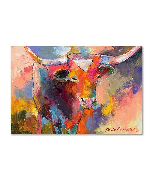"Trademark Global Richard Wallich 'Steer' Canvas Art - 22"" x 32"""