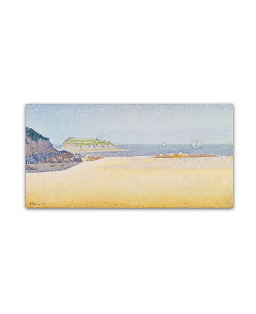 "Trademark Global Paul Signac 'Ile la Comtesse' Canvas Art - 24"" x 47"""
