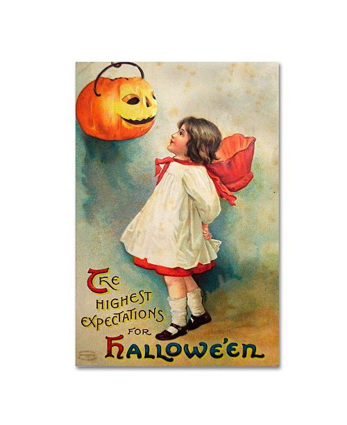 """Trademark Global Vintage Apple Collection 'Halloween Expectations' Canvas Art - 22"""" x 32"""""""