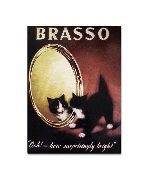 "Trademark Global Vintage Apple Collection 'Brasso' Canvas Art - 35"" x 47"""