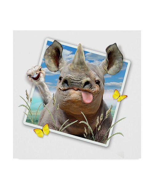"Trademark Global Howard Robinson 'Rhino Photograph' Canvas Art - 24"" x 24"""