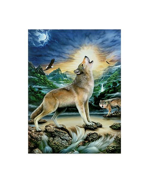 "Trademark Global Howard Robinson 'Howl At The Moon' Canvas Art - 24"" x 32"""