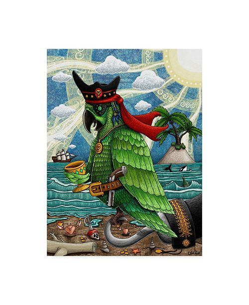 "Trademark Global Jake Hose 'Skully Bird' Canvas Art - 35"" x 47"""