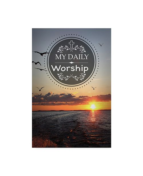 """Trademark Global Jean Plout 'My Daily Worship' Canvas Art - 30"""" x 47"""""""