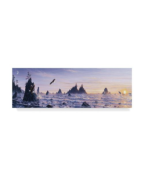 "Trademark Global Jeff Tift 'Eagles Nest Mountain' Canvas Art - 8"" x 24"""