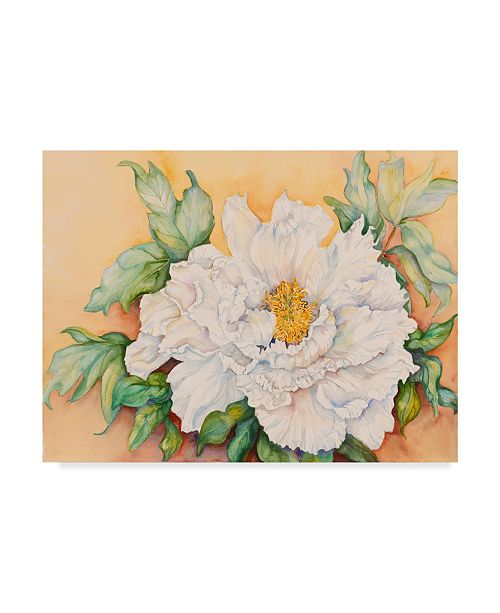 "Trademark Global Joanne Porter 'A Peony Study' Canvas Art - 24"" x 32"""