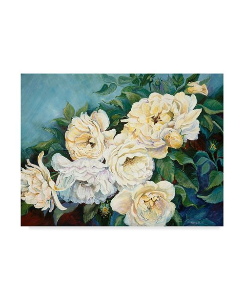 """Trademark Global Joanne Porter 'Golden Roses' Canvas Art - 35"""" x 47"""""""