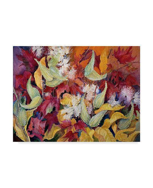 "Trademark Global Joanne Porter 'Fall Milkweed' Canvas Art - 35"" x 47"""