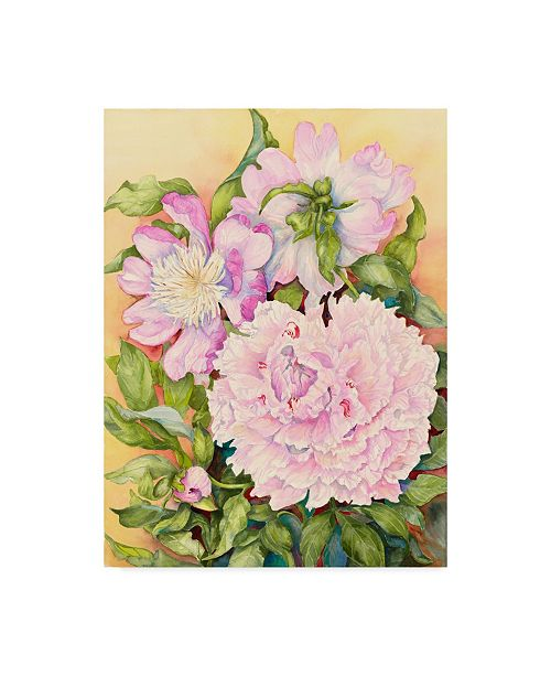 "Trademark Global Joanne Porter 'Spring Peony' Canvas Art - 24"" x 32"""
