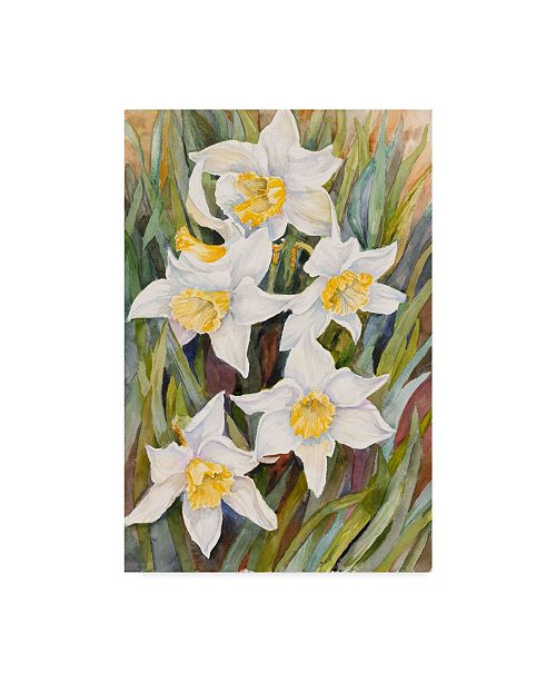 "Trademark Global Joanne Porter 'Daffodil Heads' Canvas Art - 22"" x 32"""
