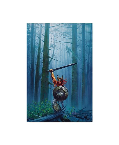 """Trademark Global Kirk Reinert 'King Of The Woods' Canvas Art - 22"""" x 32"""""""