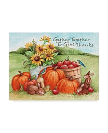 """Melinda Hipsher 'Gather Together To Give Thanks' Canvas Art - 24"""" x 32"""""""