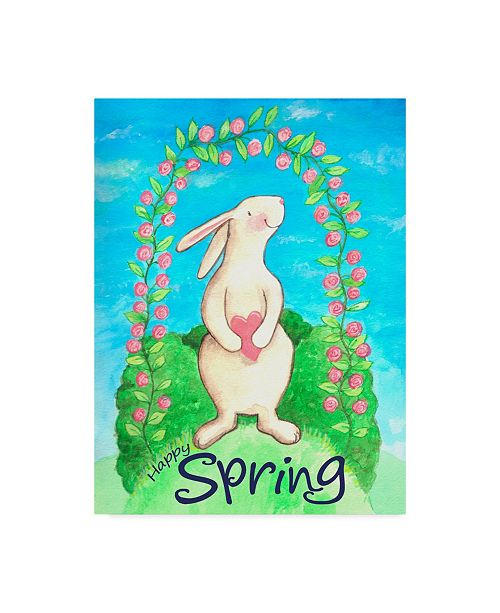 "Trademark Global Melinda Hipsher 'Happy Spring Bunny' Canvas Art - 35"" x 47"""