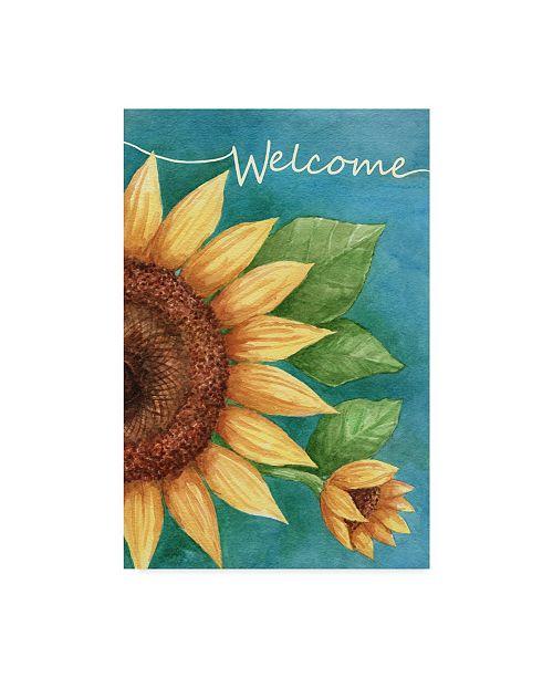 "Trademark Global Melinda Hipsher 'Welcome Sunflower' Canvas Art - 30"" x 47"""