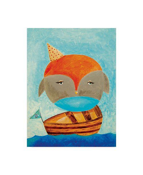 "Trademark Global Nicole Dietz 'Owl Captain' Canvas Art - 35"" x 47"""