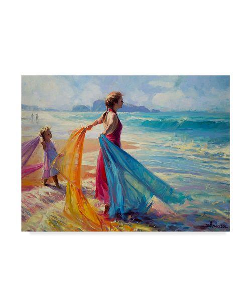 "Trademark Global Steve Henderson 'Into The Surf' Canvas Art - 24"" x 32"""