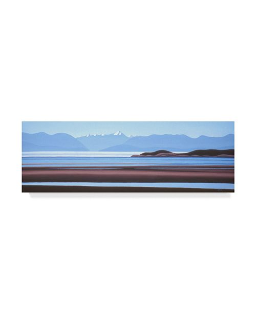 "Trademark Global Ron Parker 'Fog Bank' Canvas Art - 8"" x 24"""