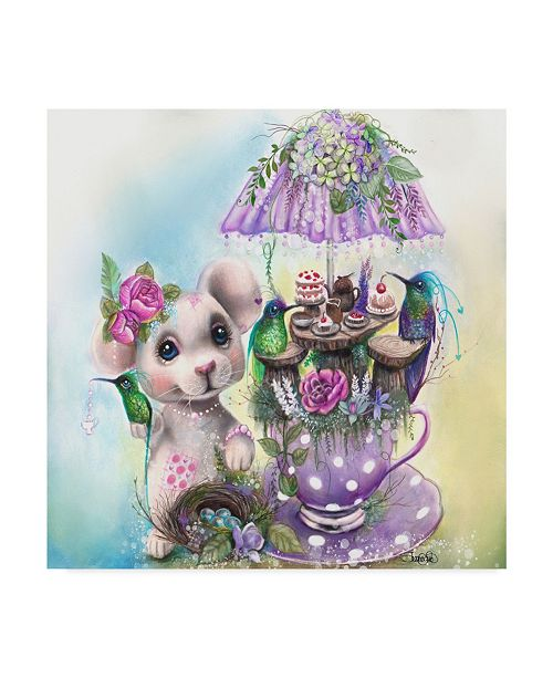 """Trademark Global Sheena Pike Art And Illustration 'Wont You Join Us' Canvas Art - 24"""" x 24"""""""