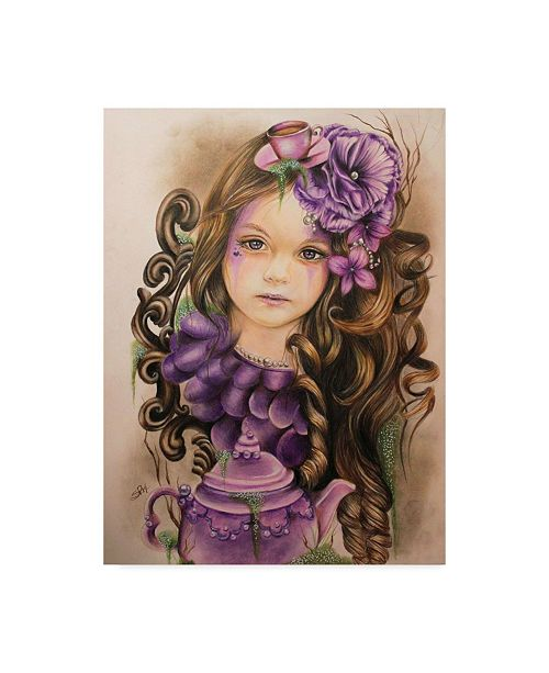 "Trademark Global Sheena Pike Art And Illustration 'Lavender' Canvas Art - 24"" x 32"""