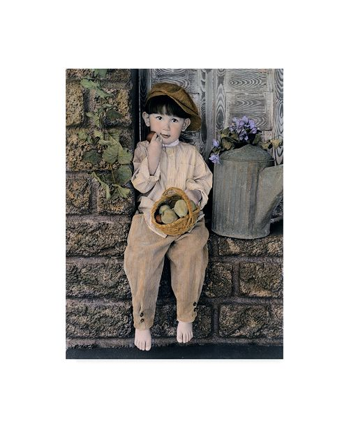 "Trademark Global Sharon Forbes 'Watering Can' Canvas Art - 24"" x 32"""