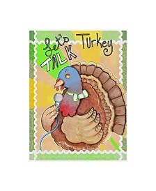 "Valarie Wade 'Talking Turkey' Canvas Art - 24"" x 32"""