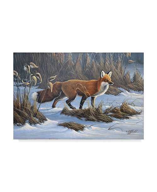 "Trademark Global Wilhelm Goebel 'The Red Fox' Canvas Art - 22"" x 32"""