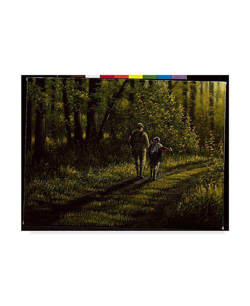 "Trademark Global Wilhelm Goebel 'First Bird' Canvas Art - 24"" x 32"""