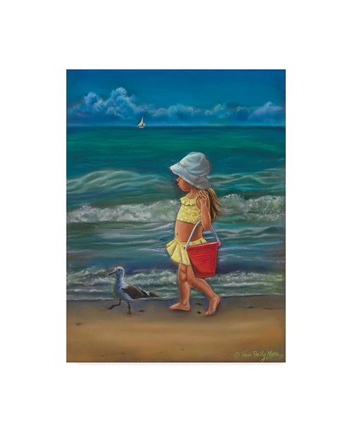 "Trademark Global Tricia Reilly-Matthews 'Meet Me At The Beach' Canvas Art - 35"" x 47"""
