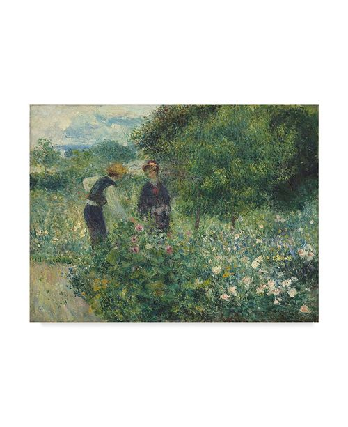 "Trademark Global Pierre Auguste Renoir 'Picking Flowers' Canvas Art - 47"" x 35"""
