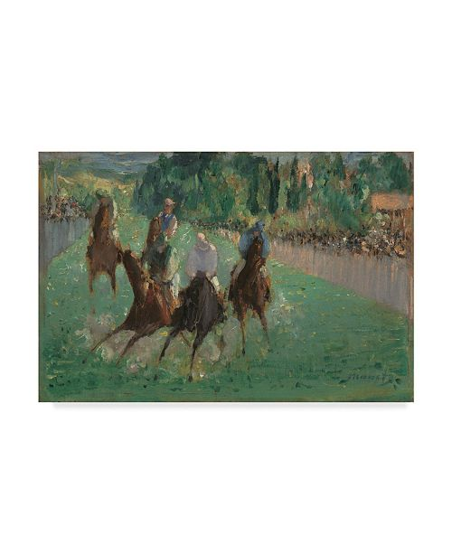 "Trademark Global Edouard Manet 'At The Races' Canvas Art - 32"" x 22"""