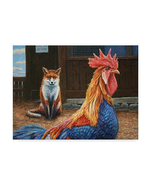 "Trademark Global James W. Johnson 'Peaceful Coexistence' Canvas Art - 32"" x 24"""