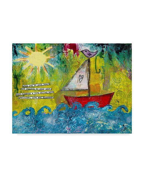 "Trademark Global Jennifer Mccully 'Sail Towards' Canvas Art - 47"" x 35"""