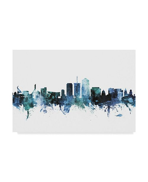 "Trademark Global Michael Tompsett 'Tucson Arizona Blue Teal Skyline' Canvas Art - 47"" x 30"""