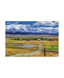 "Galloimages Online 'Montana Farm Watercolor' Canvas Art - 32"" x 22"""