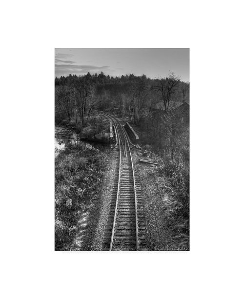 "Trademark Global Ian Tornquist 'Lonely Tracks Grayscale' Canvas Art - 30"" x 47"""
