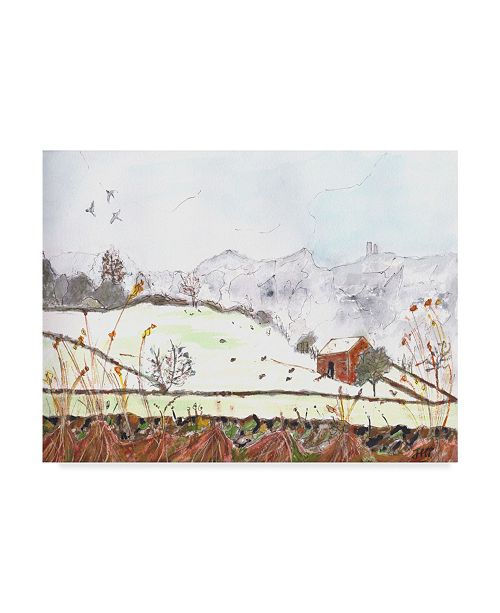 "Trademark Global Jane Hinchliffe 'Winters Mantle' Canvas Art - 32"" x 24"""