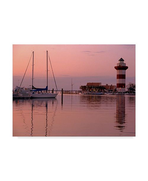 "Trademark Global J.D. Mcfarlan 'Harbortown' Canvas Art - 32"" x 24"""
