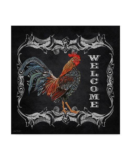 "Trademark Global Jean Plout 'Welcome Rooster 4' Canvas Art - 35"" x 35"""