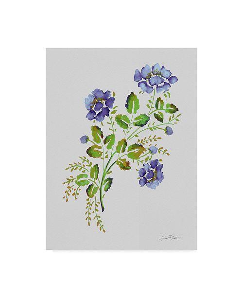 "Trademark Global Jean Plout 'Wild Rose Purple 1' Canvas Art - 35"" x 47"""