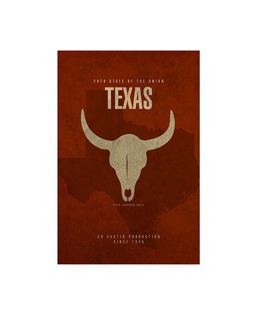 "Trademark Global Red Atlas Designs 'State Animal Texas' Canvas Art - 24"" x 16"""
