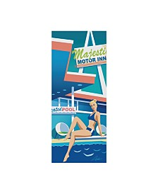"Larry Hunter 'Majestic In Pool' Canvas Art - 8"" x 19"""