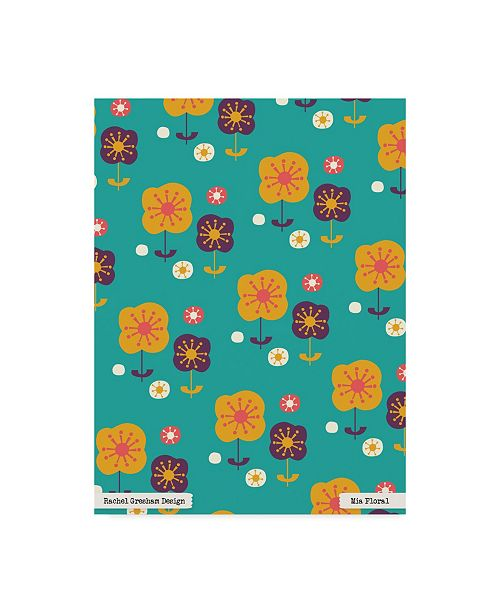 "Trademark Global Rachel Gresham 'Mia Floral' Canvas Art - 24"" x 32"""