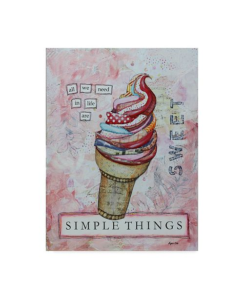 "Trademark Global Let Your Art Soar 'Simple Things' Canvas Art - 35"" x 47"""