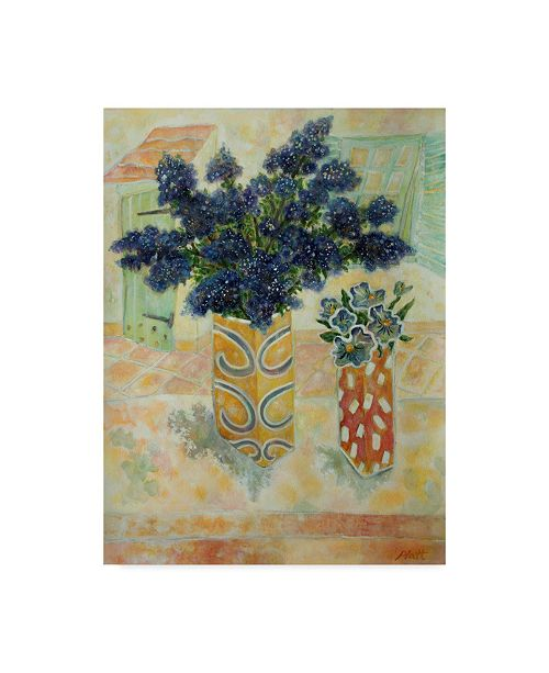 "Trademark Global Lorraine Platt 'Ceanthus And Pansies' Canvas Art - 35"" x 47"""