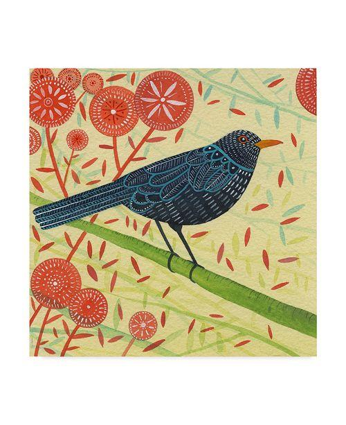 "Trademark Global Michelle Campbell 'Blackbird Portrait' Canvas Art - 35"" x 35"""