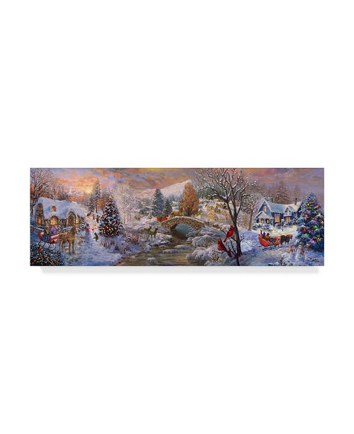 "Trademark Global Nicky Boehme 'To Grandmas House We Go' Canvas Art - 32"" x 10"""