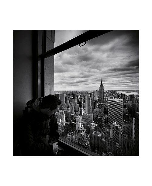 "Trademark Global Nina Papiorek 'NYC Manhattan View' Canvas Art - 24"" x 24"""