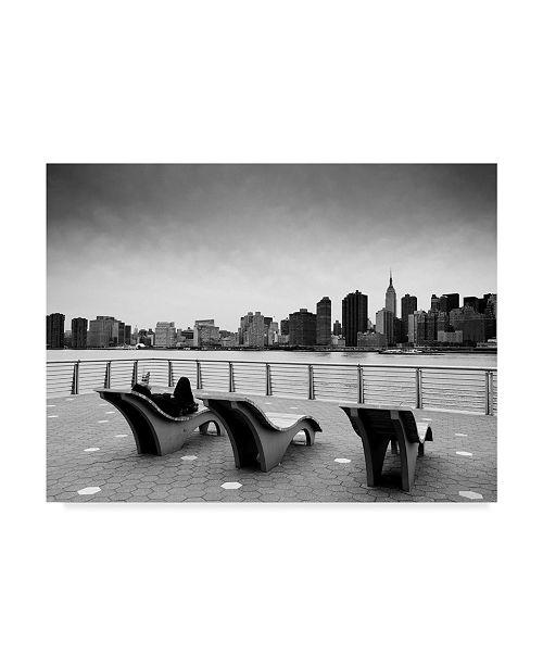 "Trademark Global Nina Papiorek 'NYC Relax' Canvas Art - 47"" x 35"""